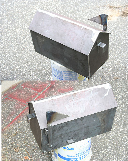 Welded Mailbox With Scrap