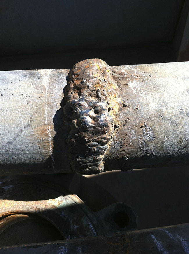 Really Bad Pipe Weld